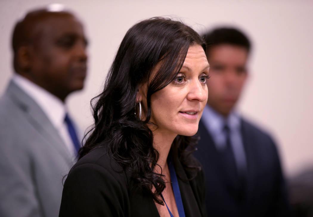 Kimberly Hertin, supervisora de vigilancia de enfermedades del Distrito de Salud del Sur de Nev ...