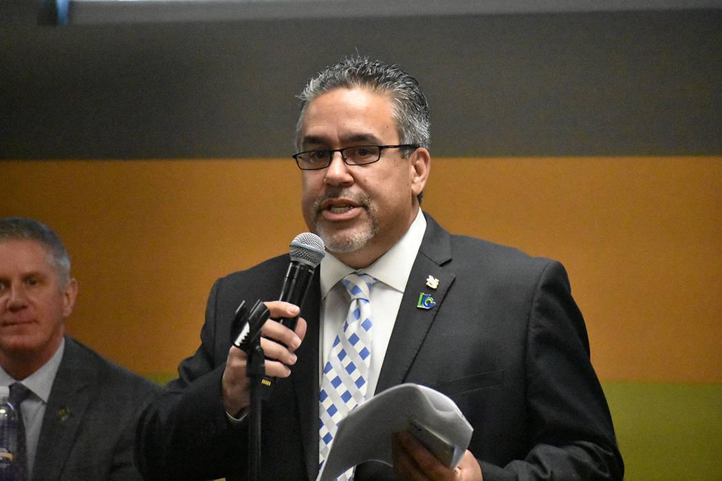 Presidente de la Cámara Latina de Comercio de Las Vegas, Peter Guzmán. Viernes 15 de marzo de ...