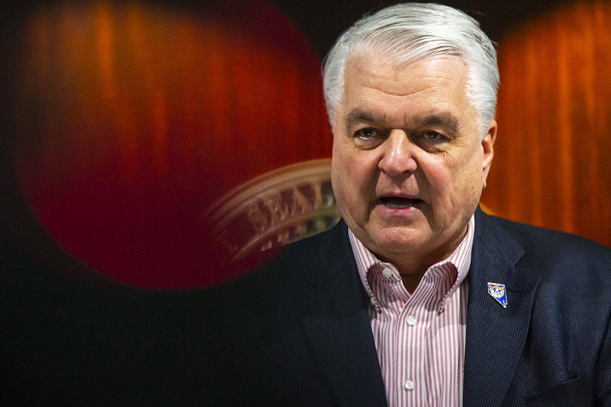 Gobernador Steve Sisolak. [Foto Chase Stevens / Las Vegas Review-Journal]