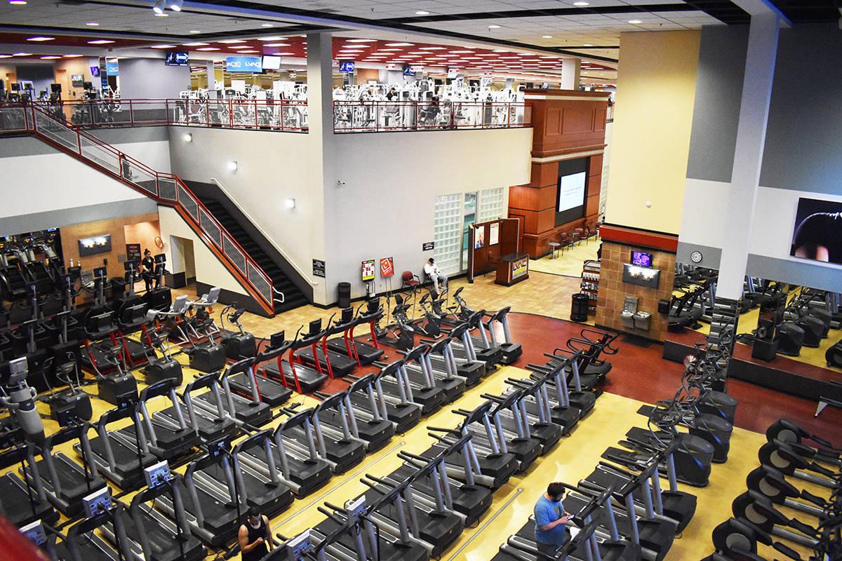 Los gimnasios lucían vacíos después del anuncio del gobernador Sisolak. Martes 17 de marzo d ...