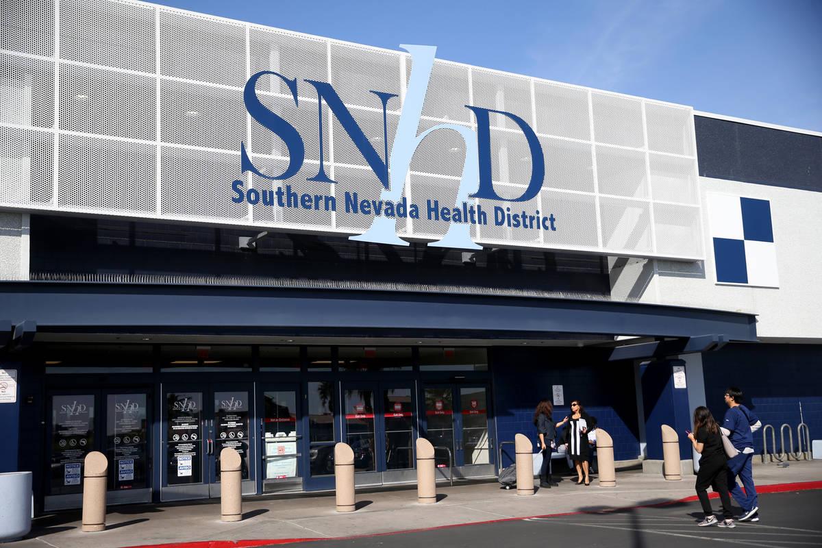 Distrito de Salud del Sur de Nevada en Las Vegas el jueves, 5 de marzo de 2020. (K.M. Cannon/La ...