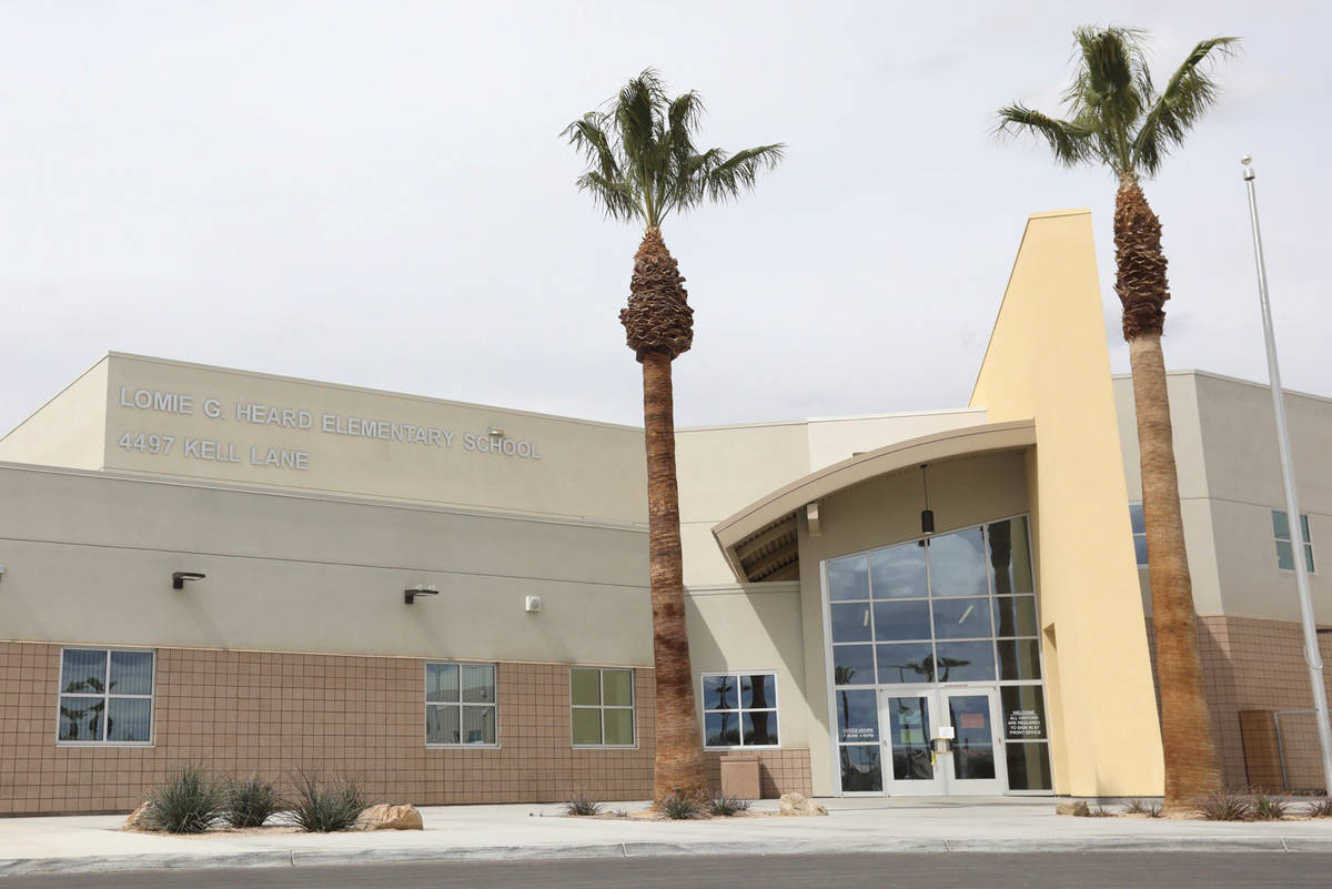 Escuela primaria Lomie G. Heard en Las Vegas fotografiada el jueves 19 de marzo de 2020. [Foto ...