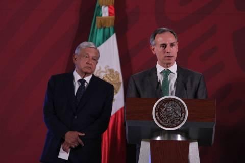 Ciudad de México, 24 Mar 2020 (Notimex-Gustavo Durán).- Hugo López-Gatell Ramírez, subsecre ...