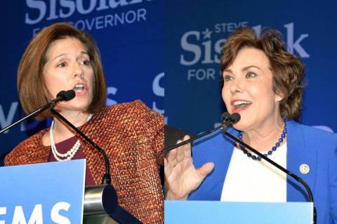 Las senadoras Catherine Cortez Masto y Jacky Rosen. Fotos Frank Alejandre / El Tiempo - Archivo.