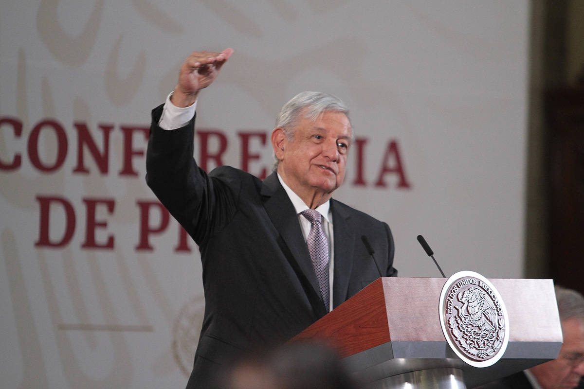 Ciudad de México, 31 Mar 2020 (Notimex-Gustavo Durán).- El presidente Andrés Manuel López O ...