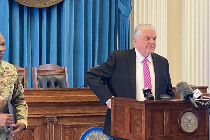 El gobernador Steve Sisolak describe la respuesta continua del estado a la emergencia COVID-19 ...