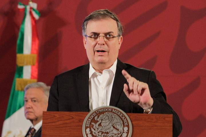 ARCHIVO. Ciudad de México, 13 Abr 2020 (Notimex-Romina Solis).- Marcelo Ebrard Casaubón, secr ...