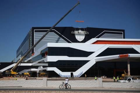 Las instalaciones de práctica y el cuartel general de los Raiders en Henderson, miércoles 15 ...