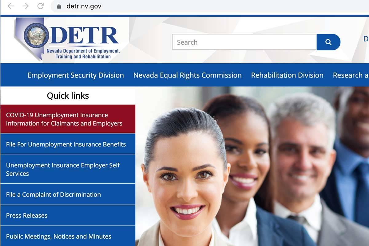 Sitio web del Departamento de Empleo, Capacitación y Rehabilitación (DETR).