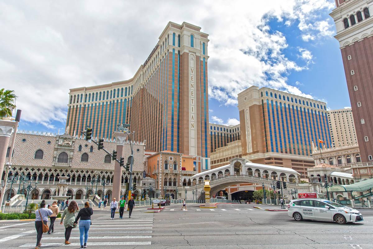 Venetian el martes, 17 de marzo de 2020, en Las Vegas. (Benjamin Hager/Las Vegas Review-Journal ...
