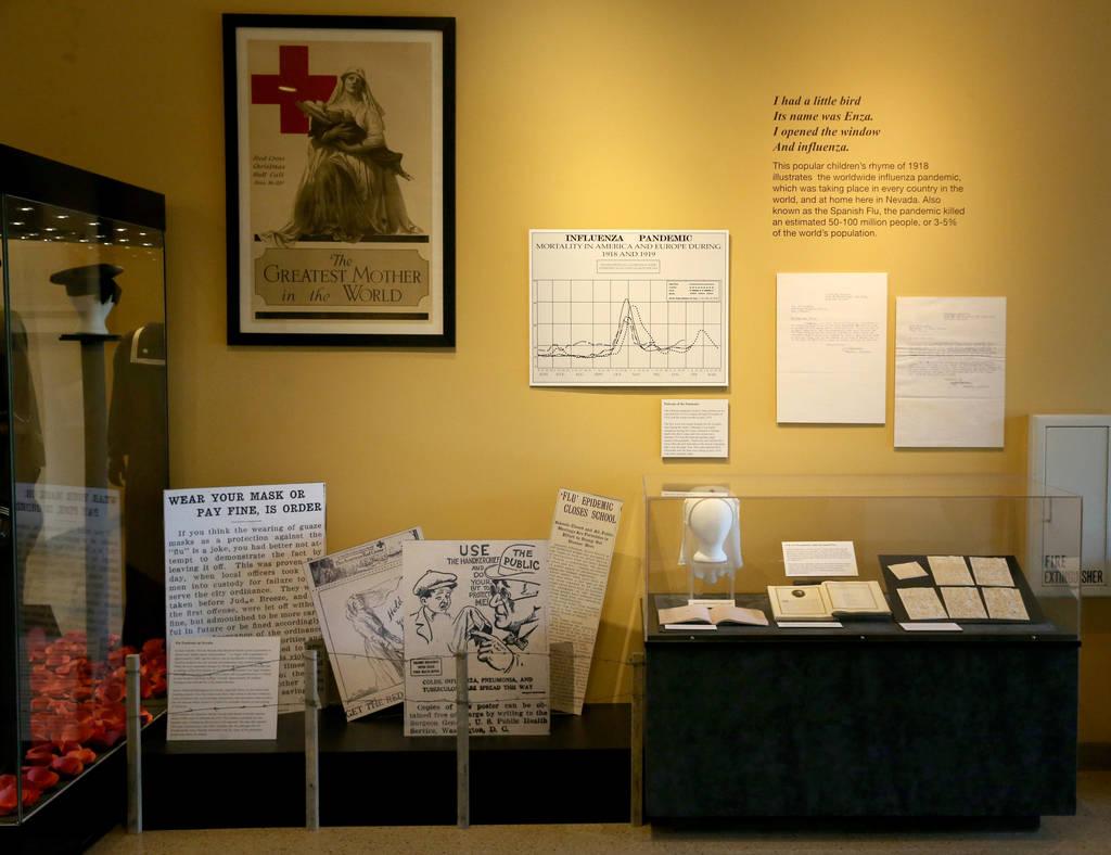 Una sección dedicada a la pandemia mundial de gripe de 1918 de la Primera Guerra Mundial en el ...