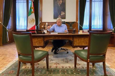 ARCHIVO. Ciudad de México, 2 May 2020 (Notimex-Especial).- El presidente Andrés Manuel López ...
