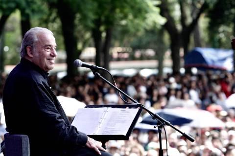 Archivo.- El cantautor mexicano Oscar Chávez falleció la tarde de este jueves, a los 85 años ...