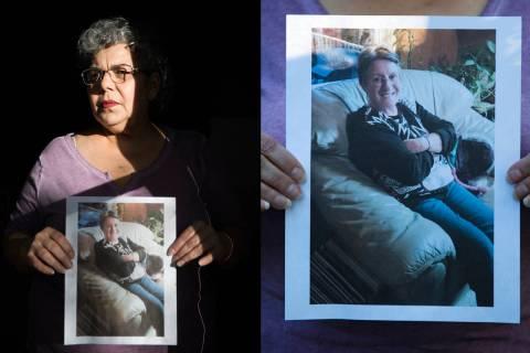 Michele Franzese Rustigan sostiene una foto de su hermana, Rosemarie Franzese, quien murió a l ...