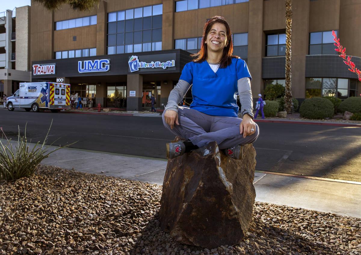Digna James es enfermera a cargo del Centro Médico Universitario de Trauma en Las Vegas. (L.E. ...