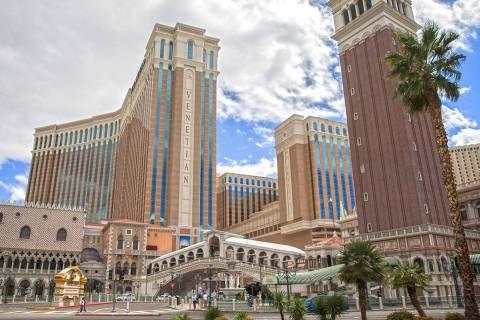 Venetian el martes, 17 de marzo de 2020 en Las Vegas. (Benjamin Hager/Las Vegas Review-Journal) ...