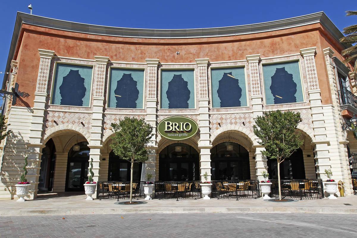 El Brio Tuscan Grille en Tivoli Village cerrará. (Archivo del Las Vegas Review-Journal)