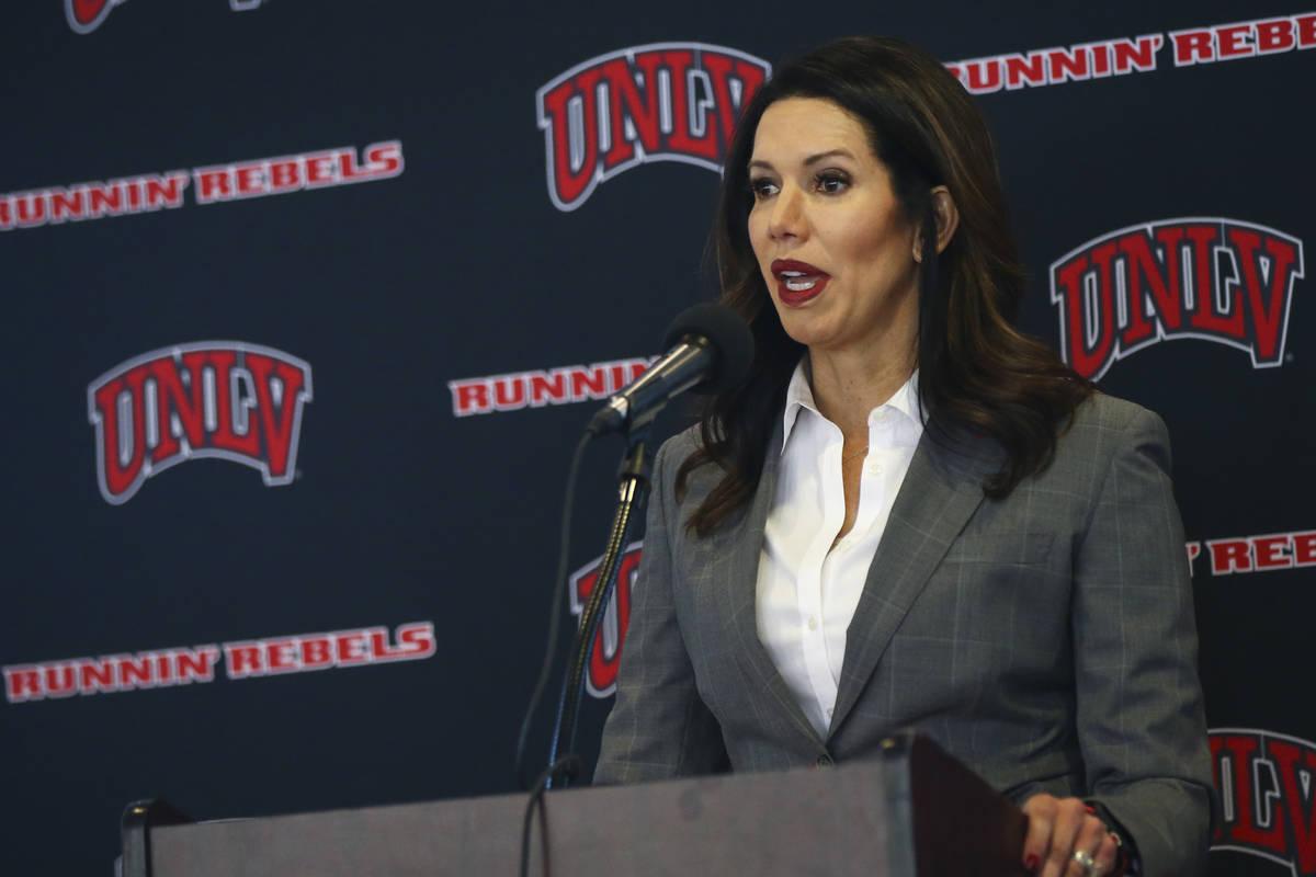 La directora atlética de la UNLV, Desiree Reed-Francois. (Chase Stevens/Las Vegas Review-Journ ...