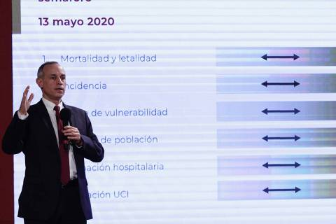 Ciudad de México, 13 May 2020 (Notimex-Alejandro Guzmán).- Informe diario de la Secretaría d ...