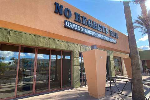 No regrets Bar no reabrirá debido a la crisis de COVID. (Al Mancini/Las Vegas Review-Journal)