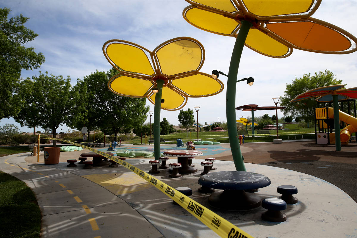 El Parque Centennial Hills en Las Vegas el miércoles, 29 de abril de 2020. Todos los chapotead ...