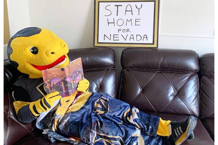 La mascota de Vegas Golden Knights, Chance, alienta a todos los niños y jóvenes a seguir apre ...