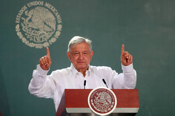 ARCHIVO. Campeche, 3 Jun 2020 (Notimex-Francisco Estrada).- Conferencia matutina del Presidente ...