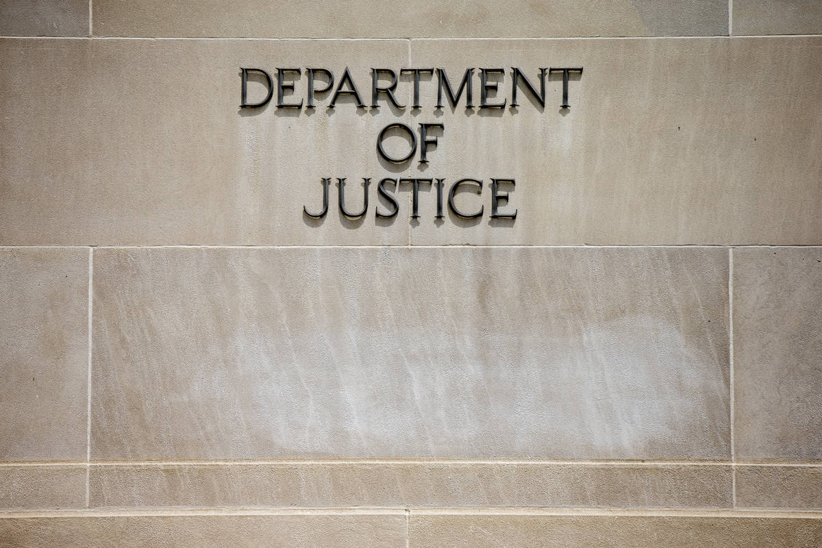 Edificio del Departamento de Justicia de los Estados Unidos en Washington. (AP Photo/Andrew Harnik)