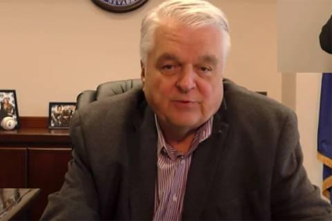 Gobernador Steve Sisolak (Gobernador Steve Sisolak YouTube - captura de pantalla).