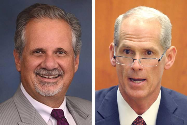 Ozzie Fumo, a la izquierda, y Douglas Herndon parecen ir a las elecciones generales de noviembr ...