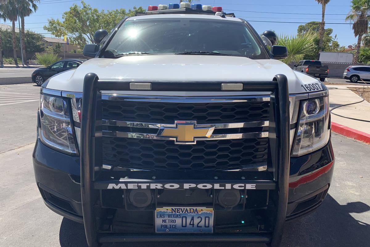Vehículo de la Policía Metropolitana de Las Vegas. (Las Vegas Review-Journal)