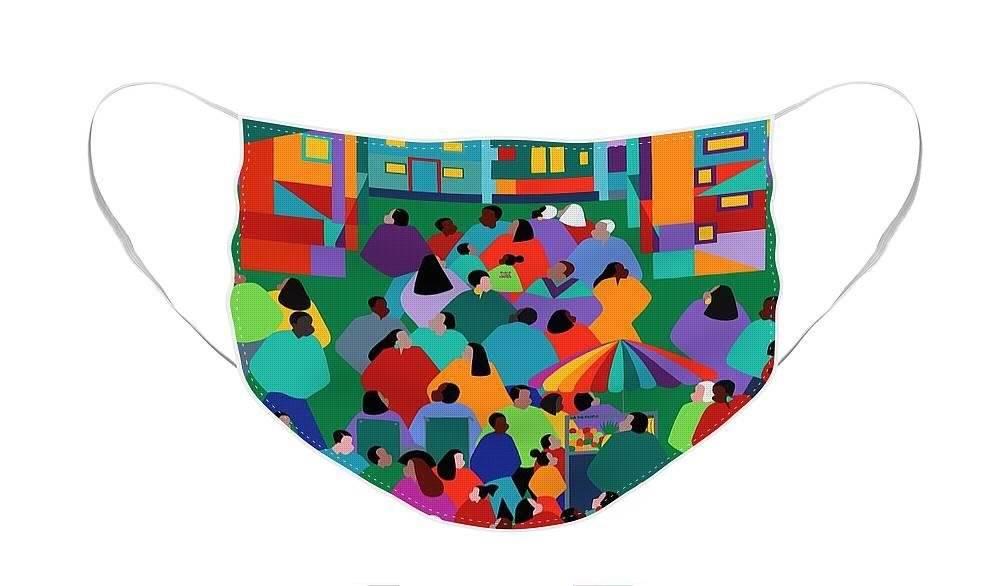 "Cubrebocas ""We The People One"" diseñado por Synthia Saint James."