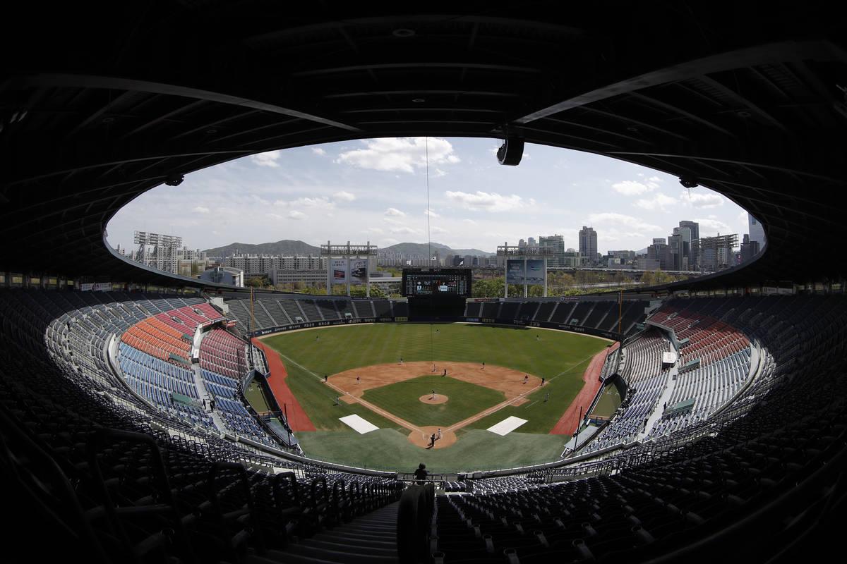 El estadio de la Organización Coreana de Béisbol se muestra en Seúl, Corea del Sur, el marte ...