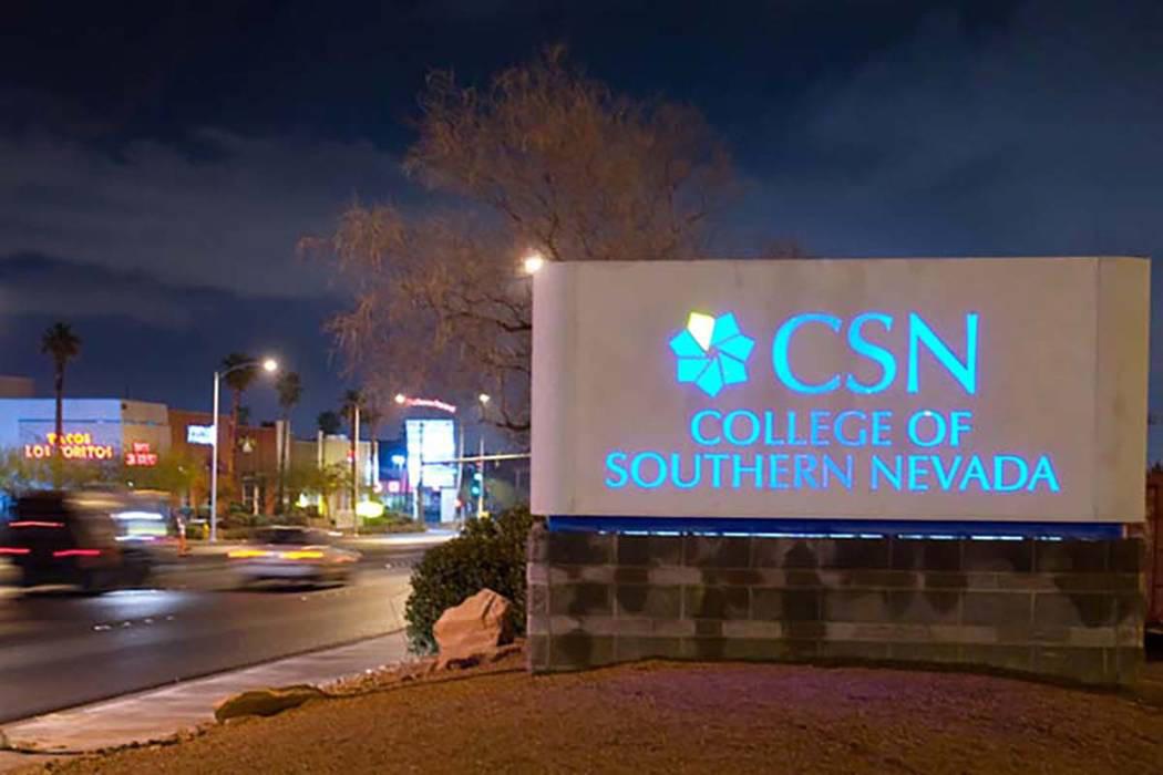 Fotografía de archivo del Colegio del Sur de Nevada. [Foto Las Vegas Review-Journal]