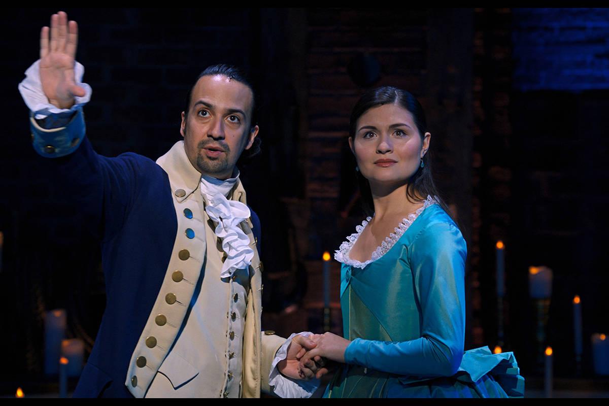 """Lin-Manuel Miranda y Phillipa Soo protagonizan """"Hamilton"""", que se estrena el 3 de julio en Disn ..."""