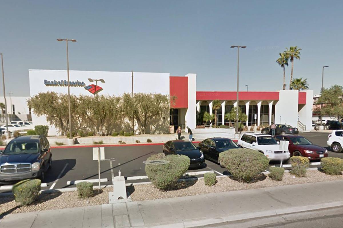 Bank of America en 4795 S. Maryland Parkway en Las Vegas (Google Maps).