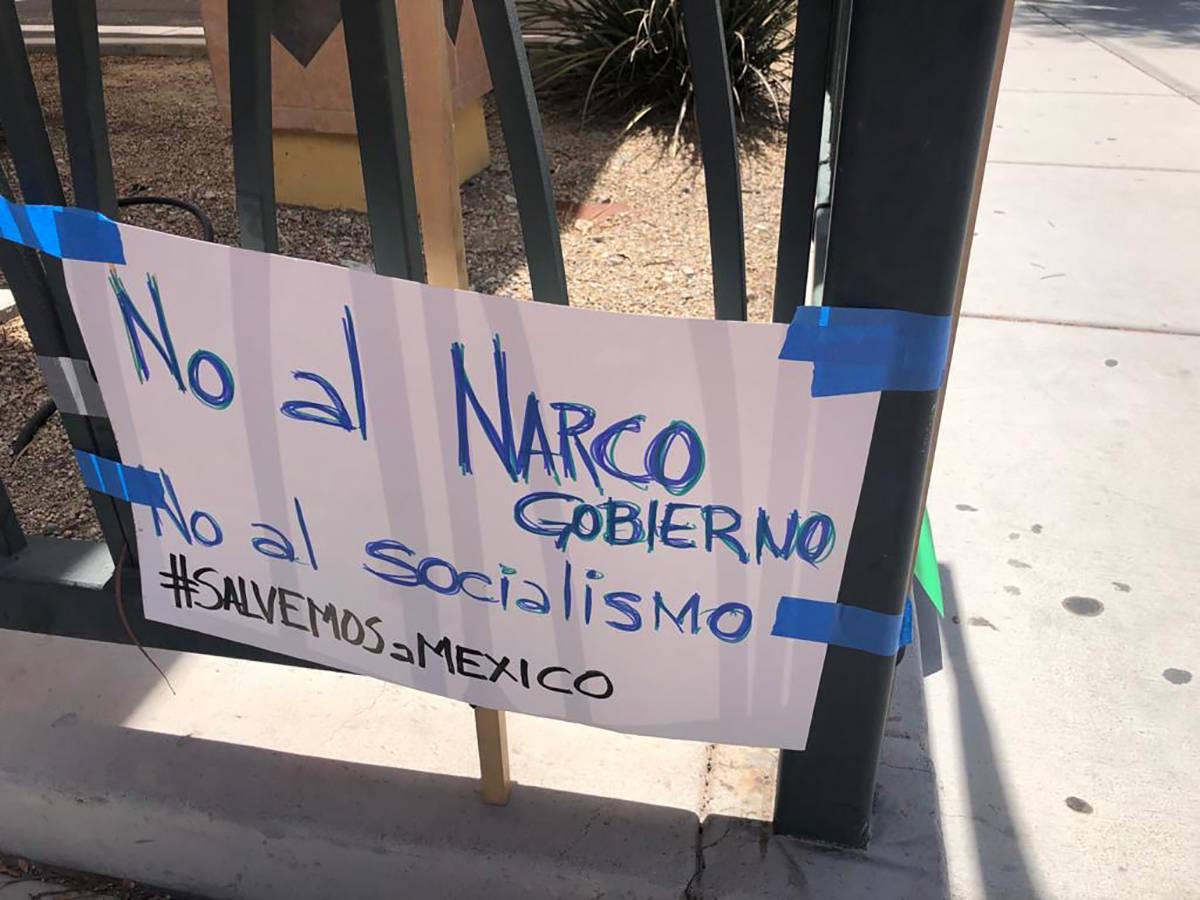 Manifestantes en esta ciudad, expresaron su descontento, como en 196 ciudades, dentro y fuera d ...