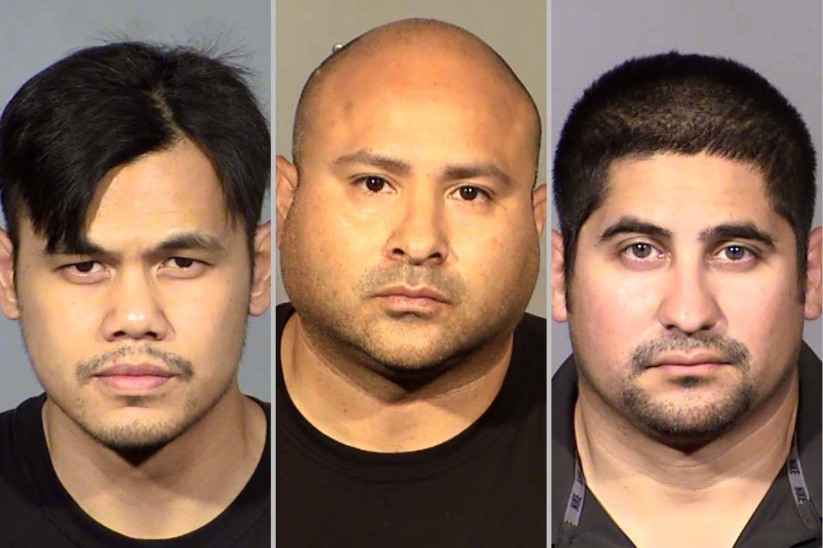 Xerxes Sangco (de izquierda a derecha), Raymond Castro y David Arroyo. (Departamento de Policí ...