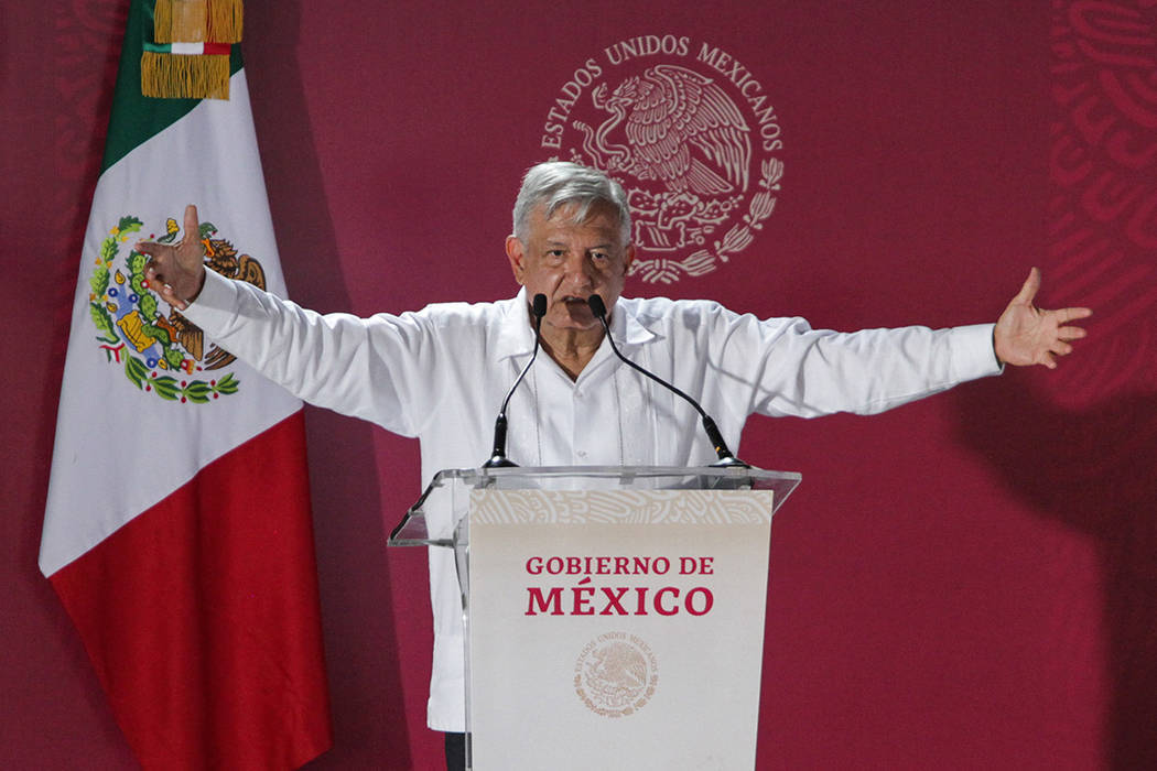 ARCHIVO. Centla, Tabasco, 29 Febrero 2020 (Notimex- Marco González).- El presidente Andrés Ma ...