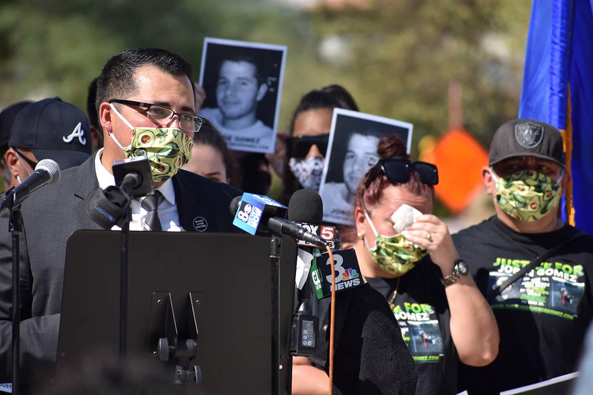 """""""Exigimos que la muerte de Jorge Gómez no sea en vano, que cuando la policía cometa un error, ..."""