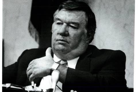 El detective Gerald Amerson en el estrado de testigos. (WAYNE KODEY/LAS VEGAS REVIEW-JOURNAL)