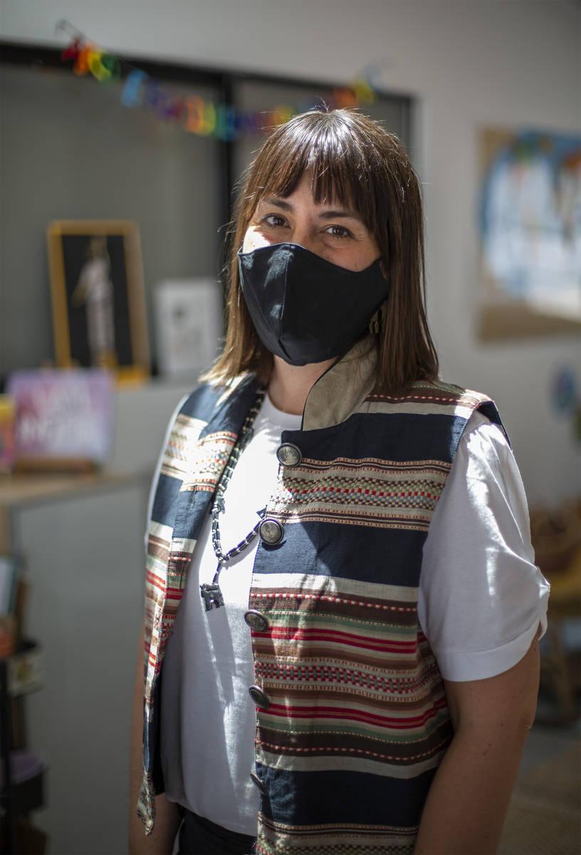 Melissa Flaxman, creadora de Future Makers LV, en el espacio de la microescuela en Ferguson's ...