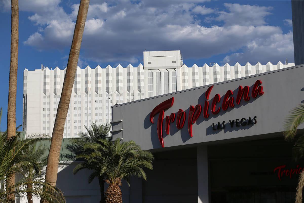 Hotel-casino Tropicana en Las Vegas el lunes, 27 de julio de 2020. (Erik Verduzco / Las Vegas R ...