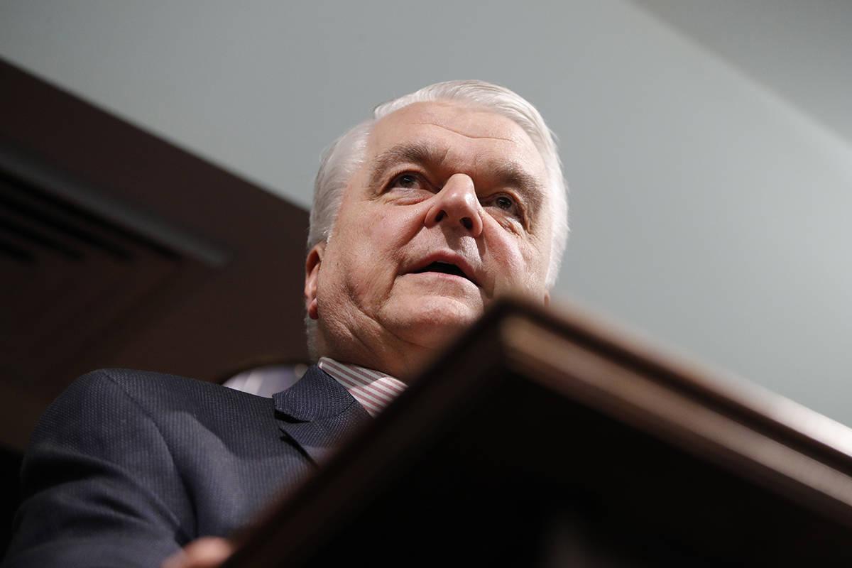 Gobernador de Nevada Steve Sisolak. (AP Photo/John Locher, Archivo)