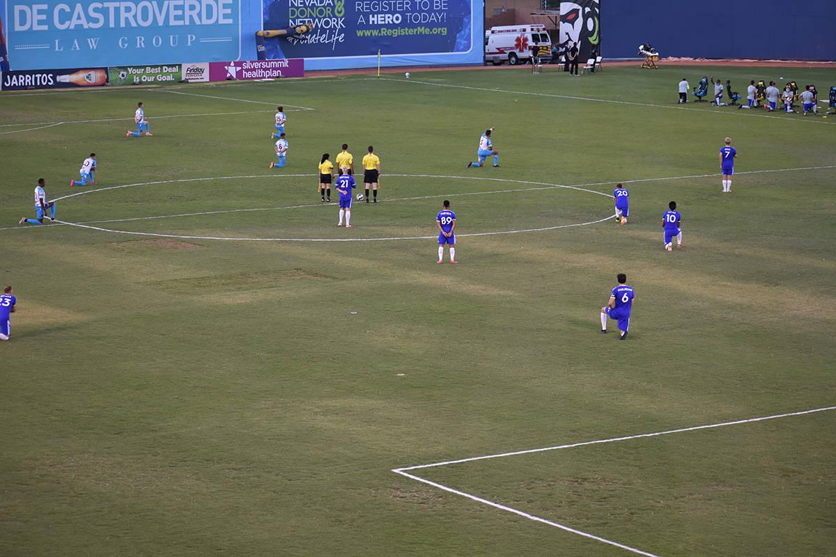 Las Vegas Lights FC cayó en casa ante el acérrimo rival, Reno 1868 FC. Sábado 1 de agosto de ...