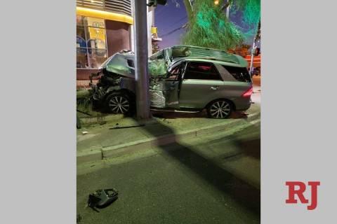 Una camioneta atropelló a dos peatones cerca de Maryland Parkway y Katie Avenue cerca de las 7 ...