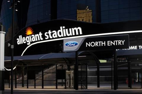 El área de entrada norte del Estadio Allegiant en Las Vegas el jueves, 30 de julio de 2020. El ...