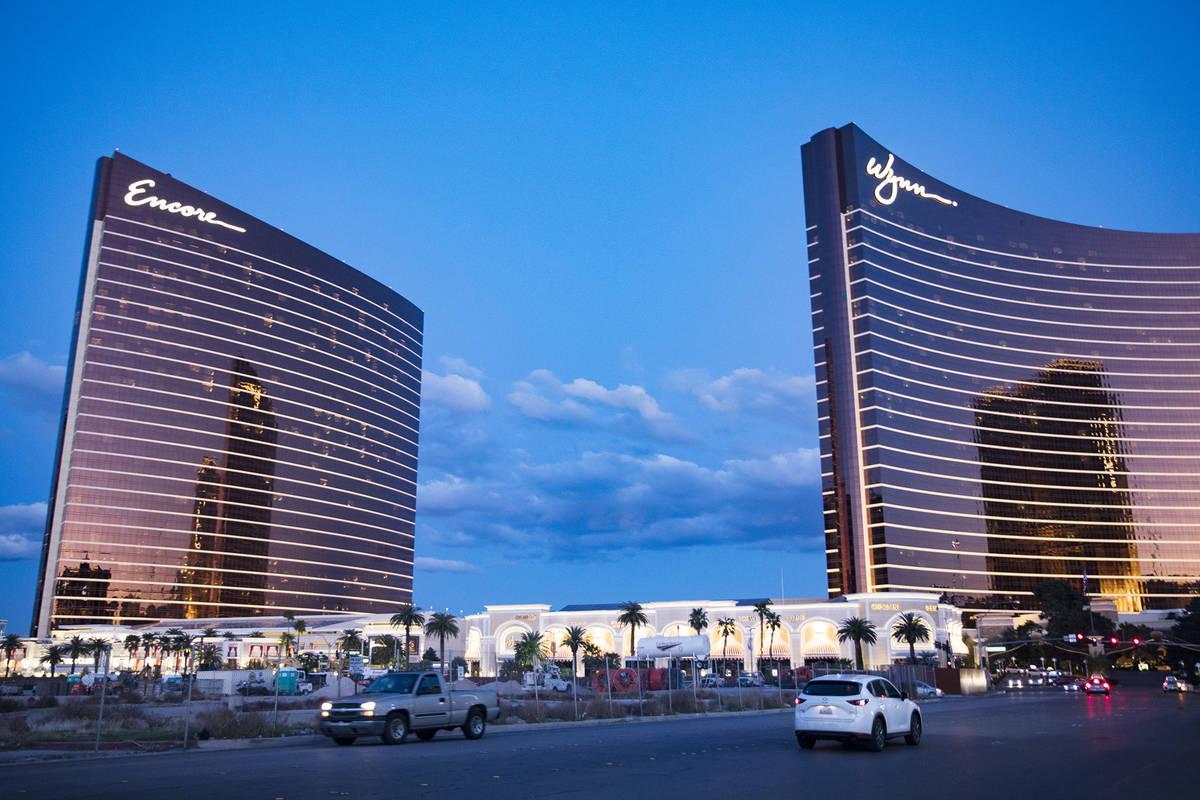 Encore y Wynn en Las Vegas el lunes, 16 de marzo de 2020. (Rachel Aston/Las Vegas Review-Journa ...