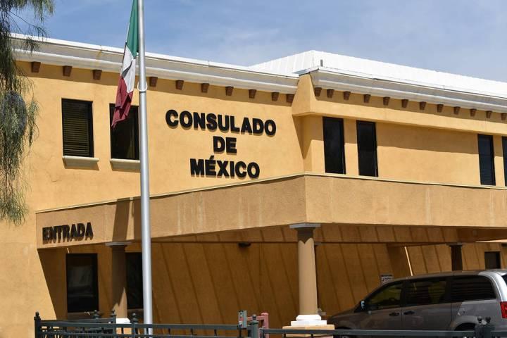 Fotografía de archivo del exterior del Consulado de México en Las Vegas. Miércoles 6 de mayo ...