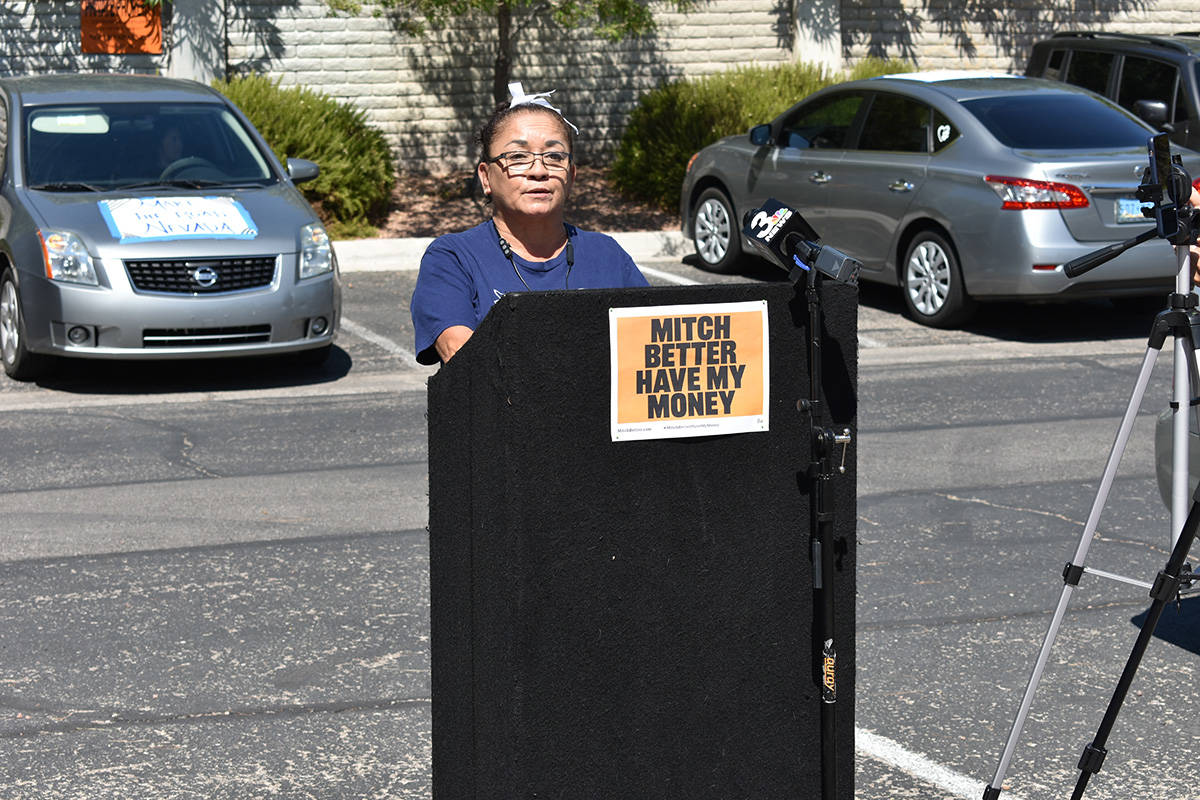 La Sra. Ruth Mantilla compartió que lleva cinco meses sin trabajo y sin recibir los beneficios ...